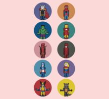 8Bit Marvel Characters Kids Clothes