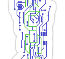 Techno Circuits Sticker