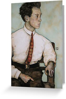 Egon Schiele by Keelan McMorrow