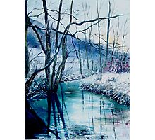 River Hileau in winter Photographic Print