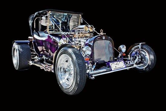 Purple T Bucket Hot Rod by Ferenghi