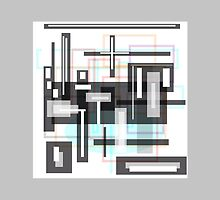 GREY Block abstract by ackelly4