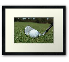 Golf - the perfect game Framed Print