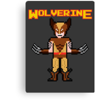 8Bit Wolverine (Brown) Canvas Print