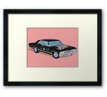 SuperWhoLocked in the Impala Framed Print