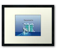 Tiffany Blue Box & Huge Diamond Framed Print