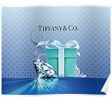 Tiffany Blue Box & Huge Diamond Poster