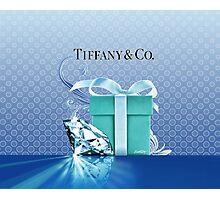 Tiffany Blue Box & Huge Diamond Photographic Print