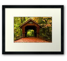 Covered Bridge,Little Hope Wisconsin  Framed Print