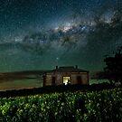 Galaxy over Homestead Ruin by pablosvista2
