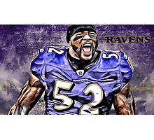 NFL Baltimore Ravens Legend Ray Lewis Photographic Print