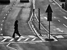 Pedestrians crossing by awefaul
