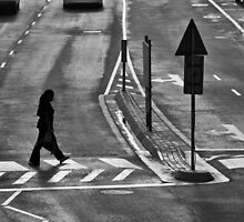 Pedestrians crossing by awefaul