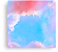 Background with dreamy clouds Canvas Print