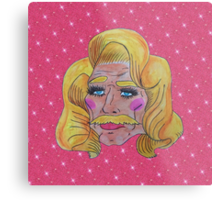 Butch Queen: First Time In A Lacefront Metal Print