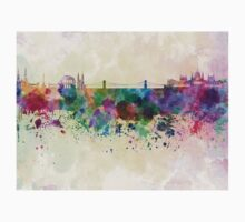 Budapest skyline in watercolor background Kids Clothes
