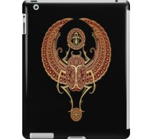 Golden Red Winged Egyptian Scarab Beetle with Ankh  iPad Case/Skin