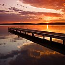 Warners Bay Sunset 2 by Mark Snelson