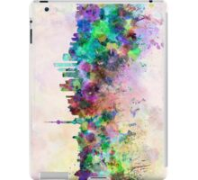 Shanghai skyline in watercolor background iPad Case/Skin