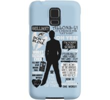Doctor Who - 10th Doctor Quotes Samsung Galaxy Case/Skin
