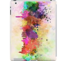 Hong Kong skyline in watercolor background iPad Case/Skin