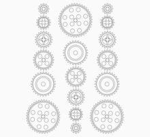 Cog Gear Wheels Pattern Kids Clothes