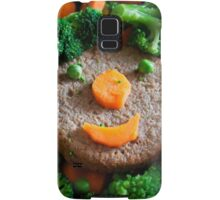 That burger is smiling at me ! Samsung Galaxy Case/Skin