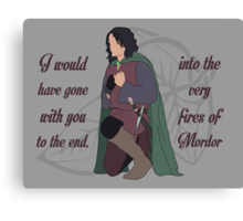 Into the Very Fires of Mordor Canvas Print
