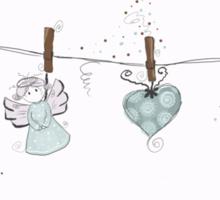 Hanging angel Sticker