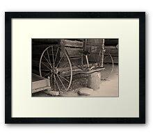 Early Hay Rake Framed Print