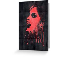 Vampire poster Greeting Card