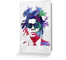 Jean-Michel Basquiat Splatter 2 Greeting Card