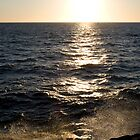 WaterSet - ocean spray at sunset Fremantle by norgan