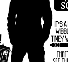 Doctor Who - 10th Doctor Quotes Sticker