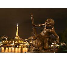 Paris by Night Photographic Print
