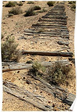Ruins Old Ghan Railway,Oodnadatta Track by Joe Mortelliti
