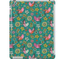 Doodle Birds Floral Pattern iPad Case/Skin