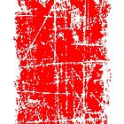 Scratched Red Surface by theshirtshops