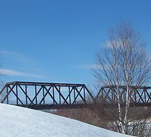 Winter Trestle by Gene Cyr
