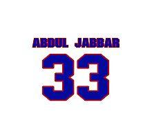 Basketball player Kareem Abdul-Jabbar jersey 33 Photographic Print