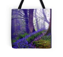 Bluebells in the Forest Rain Tote Bag