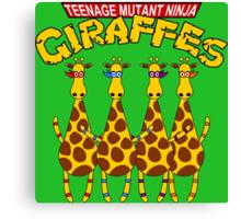 Teenage Mutant Ninja Giraffes Canvas Print