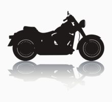 Cruiser Motorcycle Silhouette with Shadow Kids Clothes