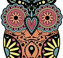 Sugar Skull Owl by pounddesigns