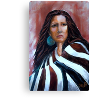 """Wrapped In Tradition, Naomi"" Canvas Print"