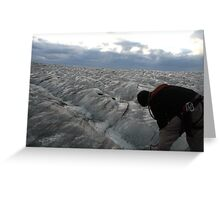 Ice Field Greeting Card