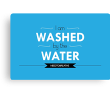 Washed by the Water Canvas Print