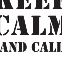 KEEP CALM AND CALL 2ND RECON Sticker