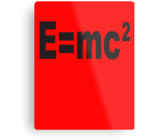 Albert Einstein, E=mc2, Squared, Mass, Energy Equivalence, Equation, Metal Print