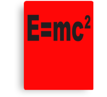 Albert Einstein, E=mc2, Squared, Mass, Energy Equivalence, Equation, Canvas Print